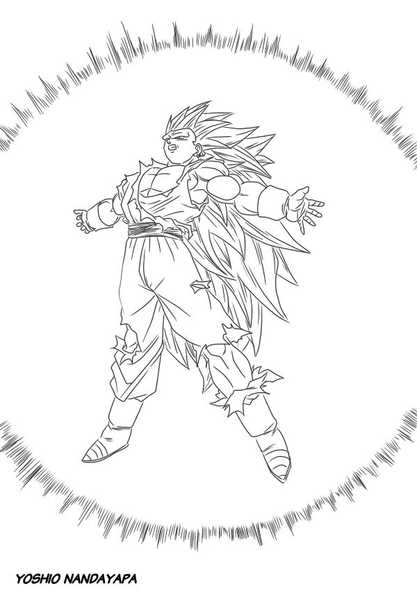 in addition dragon ball z coloring pages bardock gianfreda 31675 additionally as well vegito fukkatsu no - Gogeta Coloring Pages