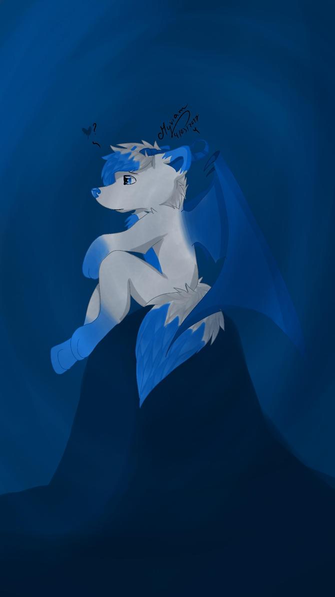 demon blue by RadianArtsX3