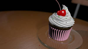 3D Cupcake WIP by Tiwyll