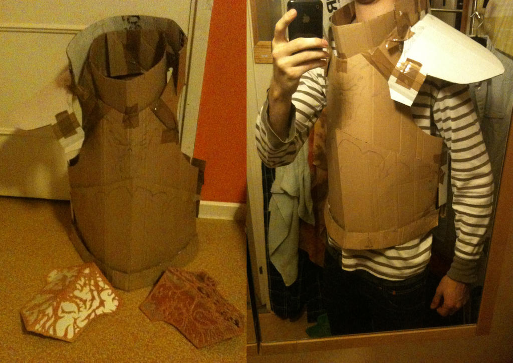 Cardboard armour template image collections template for Cardboard armour template