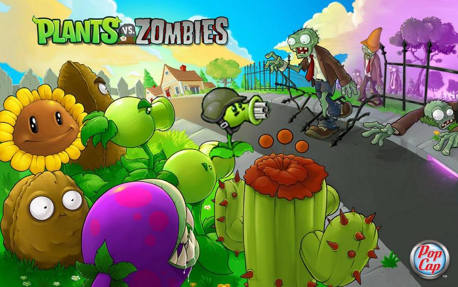 зомби против растении раскраска