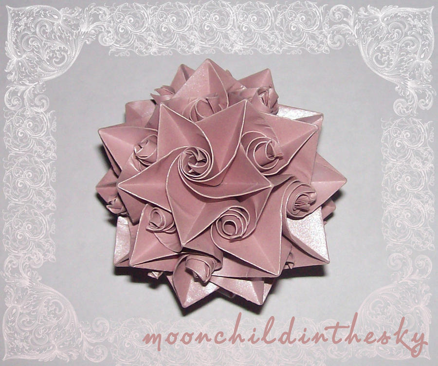 kusudama5 pink by MoonchildinTheSky