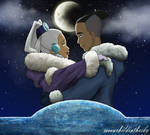 under the moon - sokkaxyue by MoonchildinTheSky