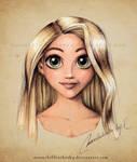 Rapunzel Portrait Color