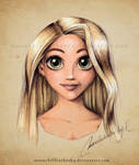 Rapunzel Portrait Color