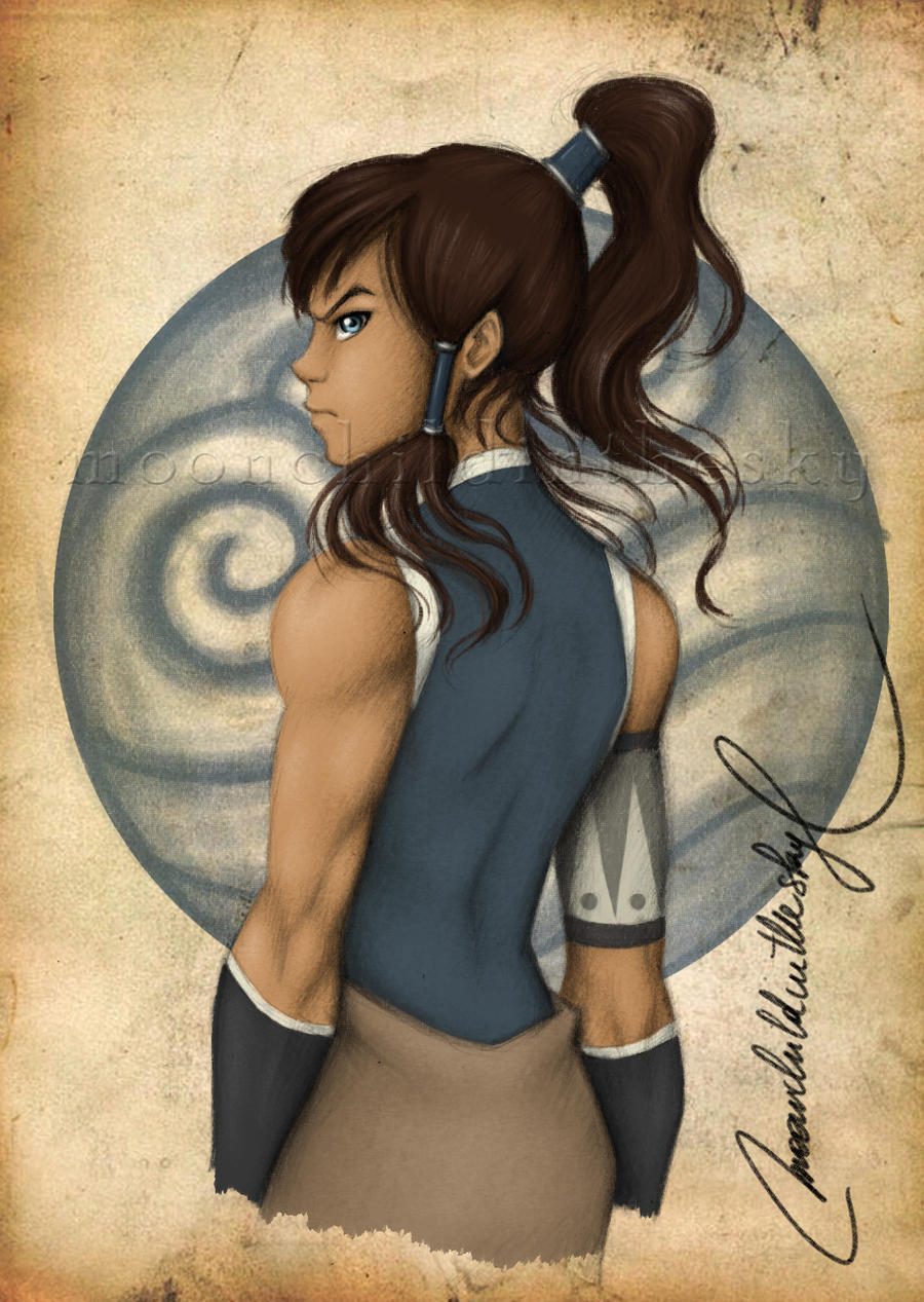 Korra of the Water Tribe by MoonchildinTheSky