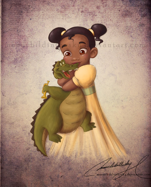 Com: Child Tiana by MoonchildinTheSky