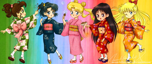 Inner Matsuri Girls by MoonchildinTheSky