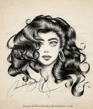 Esmeralda Portrait BnW