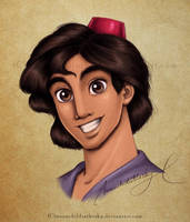Aladdin Portrait Color by MoonchildinTheSky