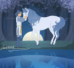 Moonlight and Prince by MoonchildinTheSky