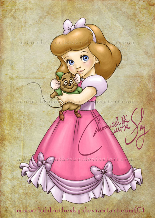 Cute Baby Disney Princess Cartoon Characters