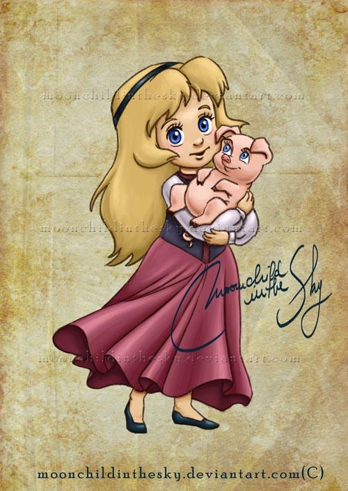 Child Eilonwy by MoonchildinTheSky