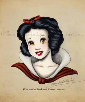 Snow White Portrait Color