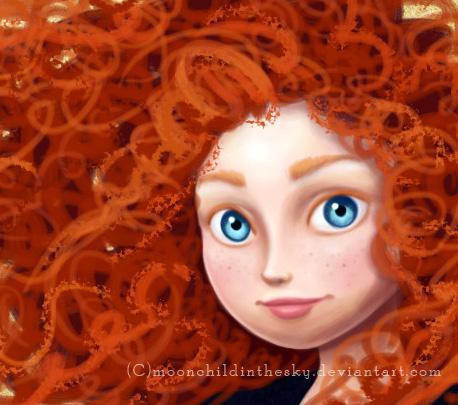 merida wip by MoonchildinTheSky