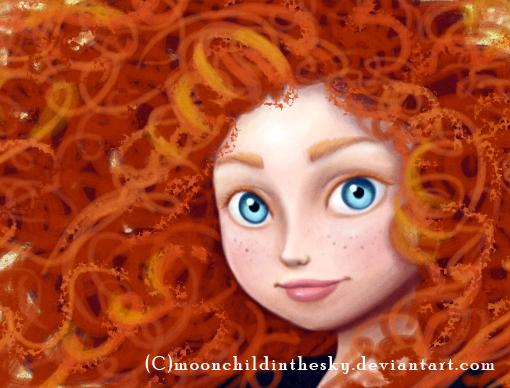 Merida close up by MoonchildinTheSky