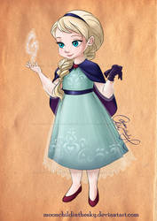 Child Elsa by moonchildinthesky by MoonchildinTheSky