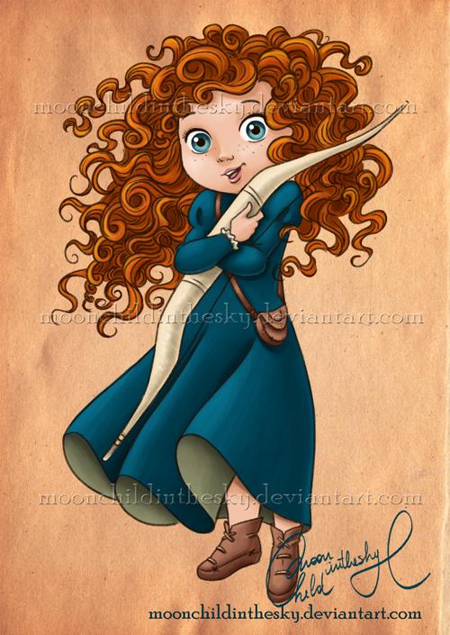 child Merida by MoonchildinTheSky