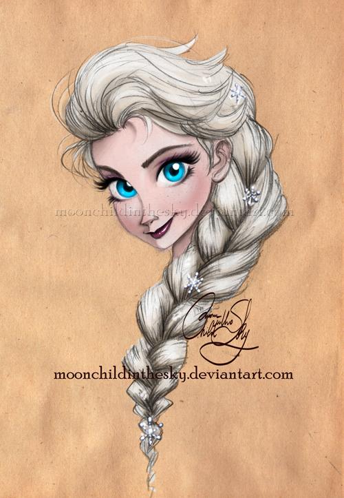 Elsa Portrait by MoonchildinTheSky