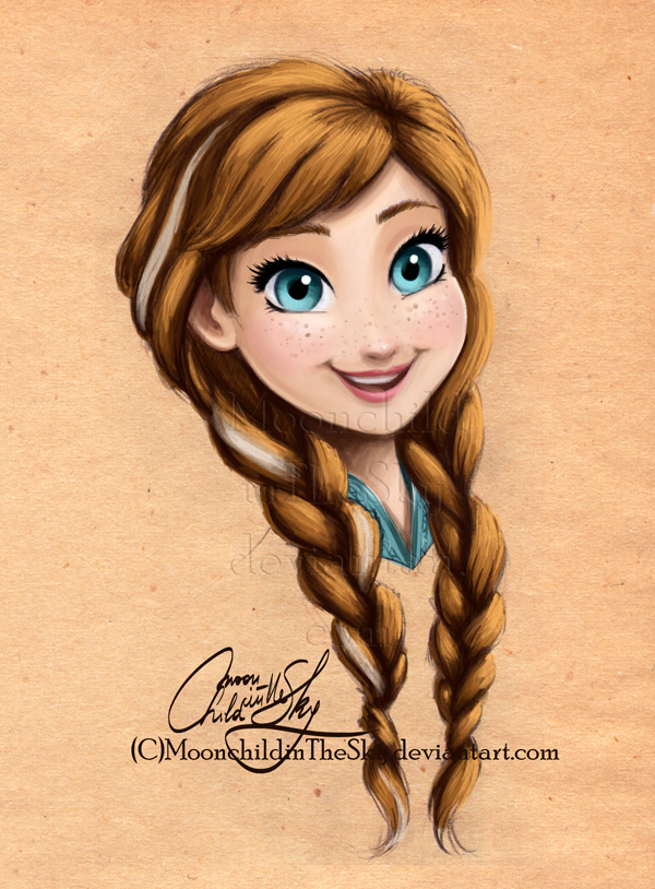 Anna Portrait by MoonchildinTheSky