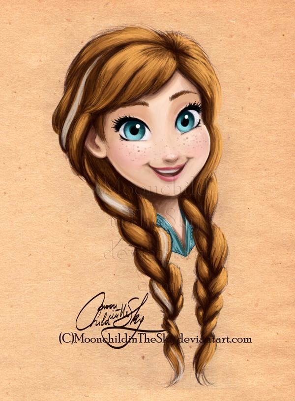 Anna Portrait by MoonchildinTheSky