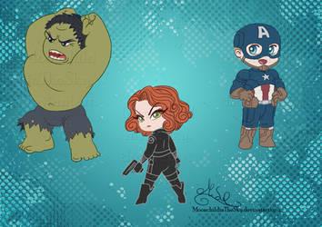 Chibi Avengers Set 1 by MoonchildinTheSky