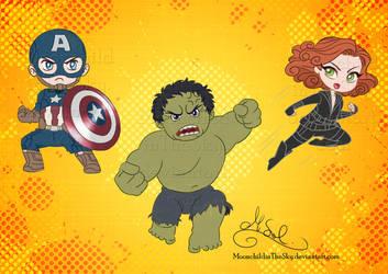 Chibi Avengers Set 2 by MoonchildinTheSky