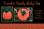 Pumpkin Candy Baby Hat
