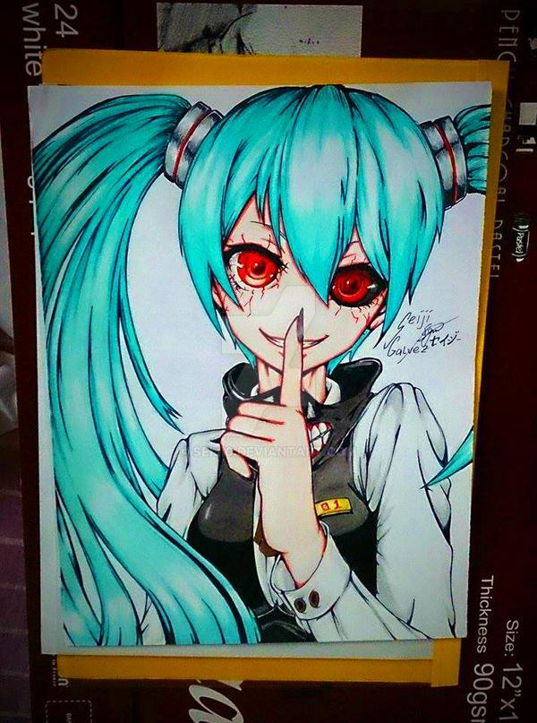 My Ghoul Miku FAn Art by seiji0