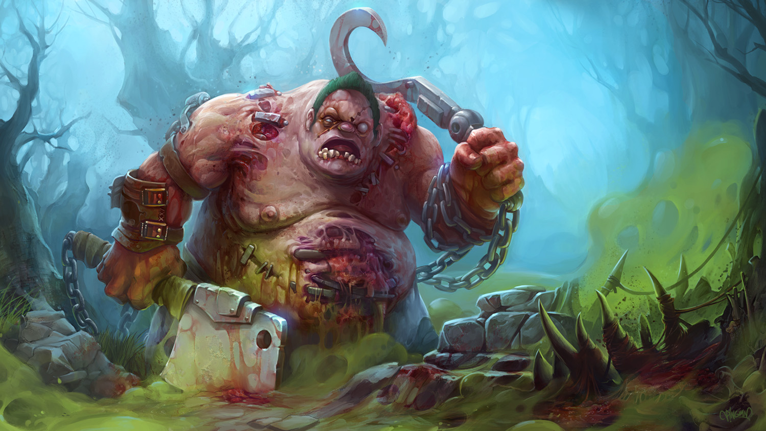 dota2 pudge by kostya pingwin on deviantart