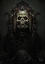 aztec demon speedpaint by Kostya-PingWIN
