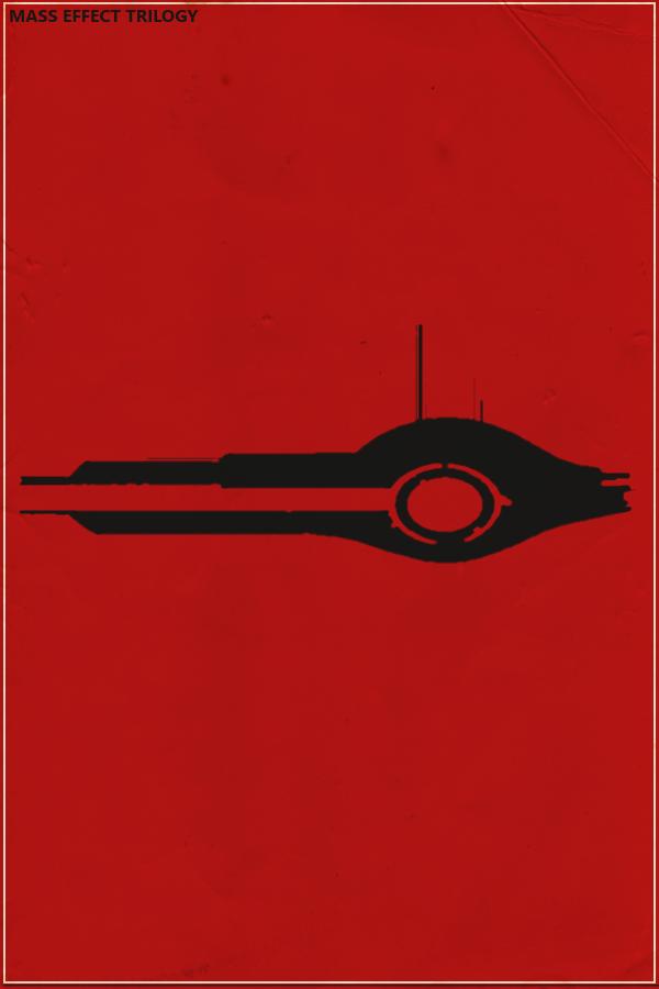 Mass Effect Trilogy Minimalist Poster by SamW1se on DeviantArt