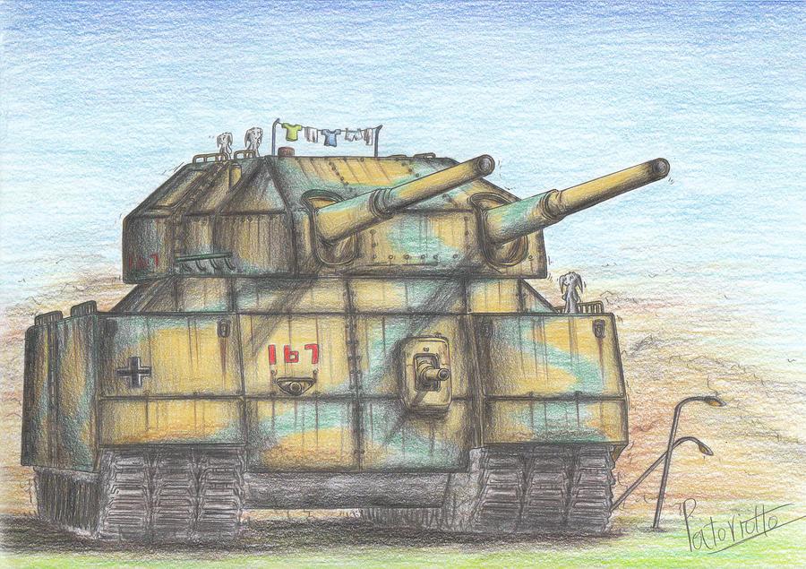 Landkreuzer P. 1000 Ratte Tank by Patoriotto