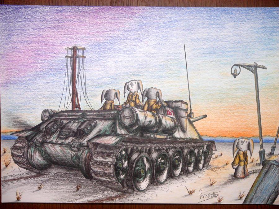 SU-100 Tank destroyer by Patoriotto