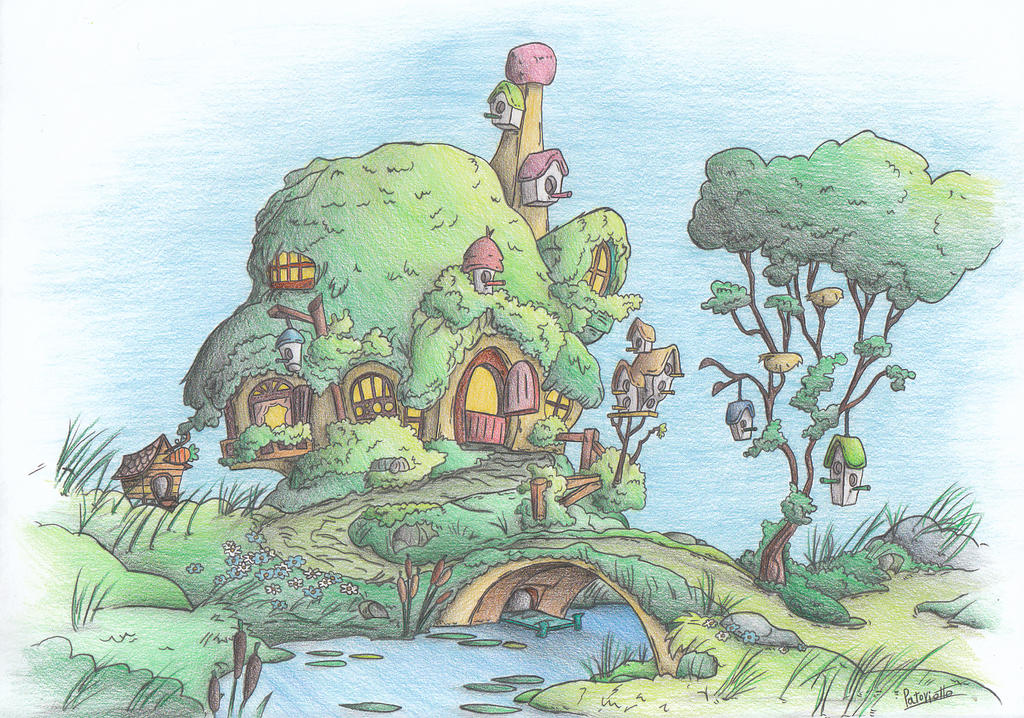 Fluttershy's cottage by Patoriotto