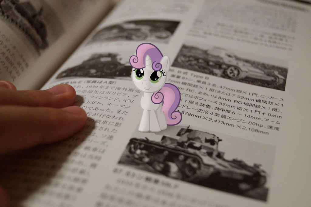 Belle on the Book by Patoriotto