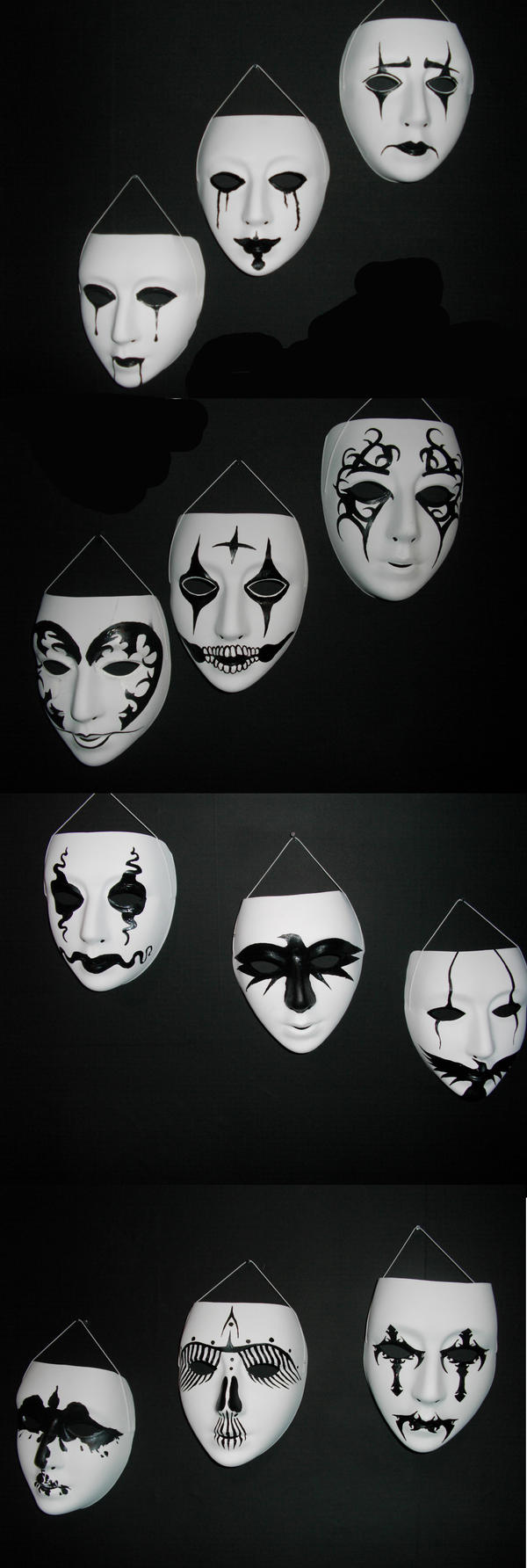 Crow masks by PsychoSlaughterman