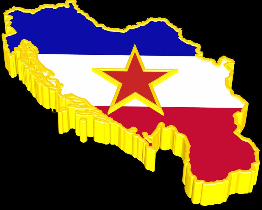 Yugoslavia 3D Map by SyNDiKaTa-NP
