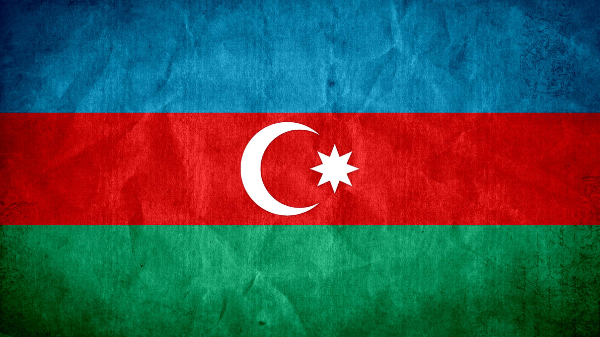 Azerbaijan Grunge Flag by SyNDiKaTa-NP