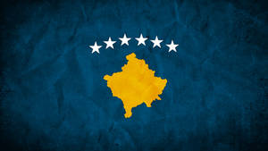 Kosovo Grunge Flag
