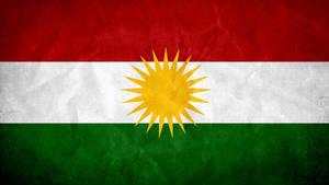 Kurdistan Grunge Flag