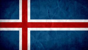 Iceland Grunge Flag