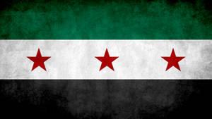 Old Syrian Grunge Flag