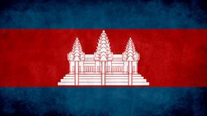 Cambodia Grunge Flag