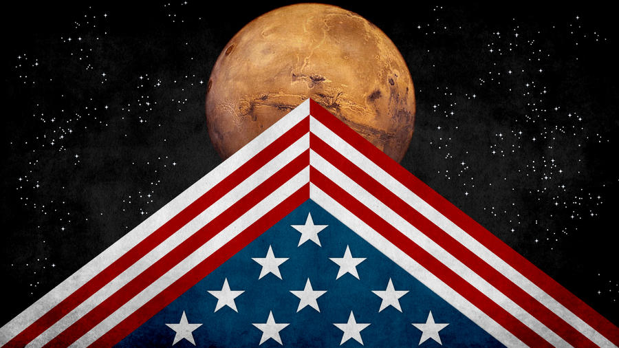 U.S. Colonized Mars Flag by SyNDiKaTa-NP