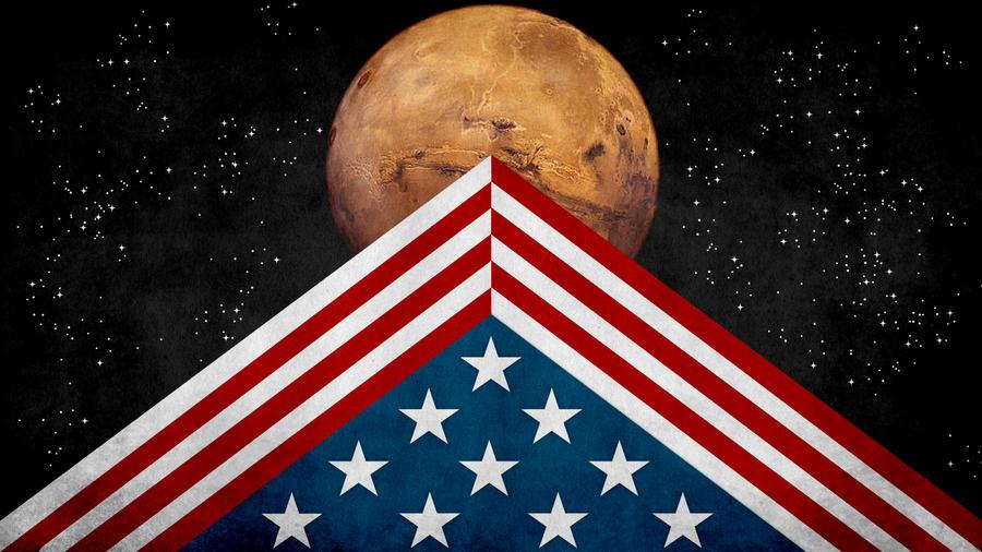 U.S. Colonized Mars Flag by SyNDiKaTa-NP