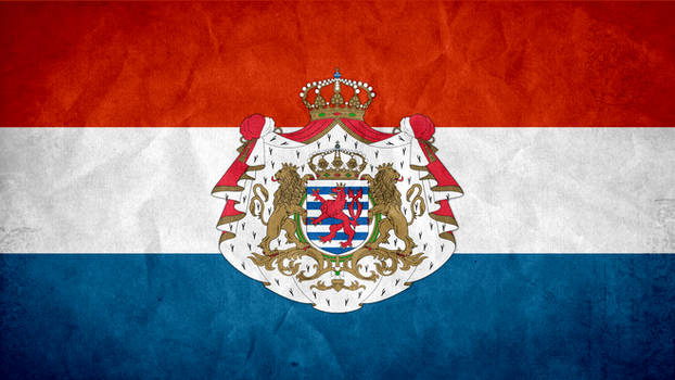 Luxembourg /w Coat of Arms Grunge Flag