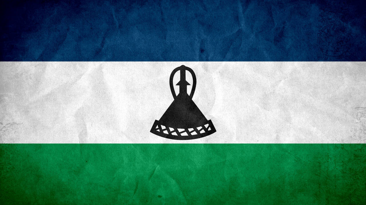 Lesotho Grunge Flag by SyNDiKaTa-NP