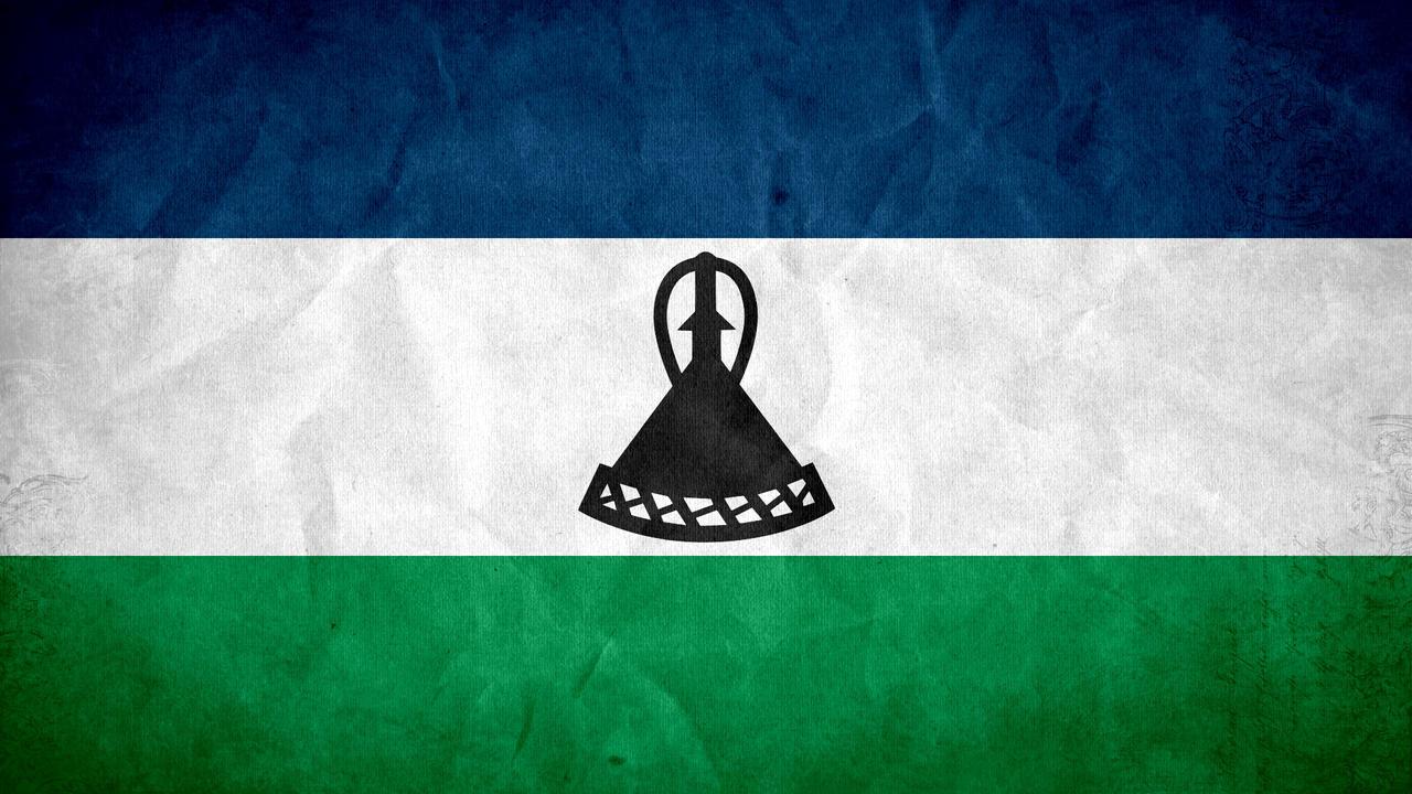 Lesotho Grunge Flag