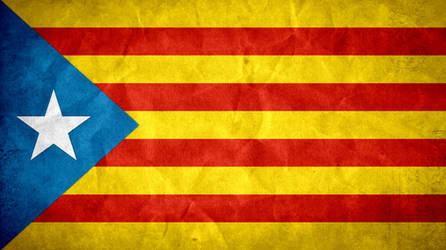 Catalonia Grunge Flag